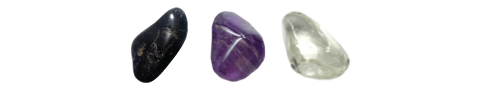 Black Tourmaline – Amethyst – Clear Quartz