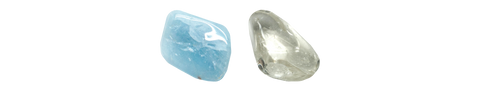 Aquamarine - Clear Quartz