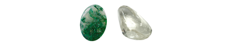 Moss Agate & Clear Quartz