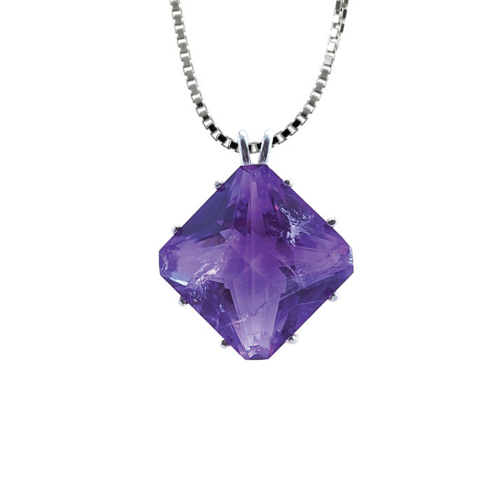 Amethyst Magician Stone Chain Pendant, Evolution Pendants, Voltlin, Crystal and Gemstone, Beaded, Healing Bracelets, Gemstone Jewelry, Healing Crystals, What Stones Are Best, Necklace, Bead, Prayer Beads, Meditation Stones, Sacred Geometry, Handmade, Handcrafted, Spiritual Jewelry, for Enlightenment, Evolution Pendants