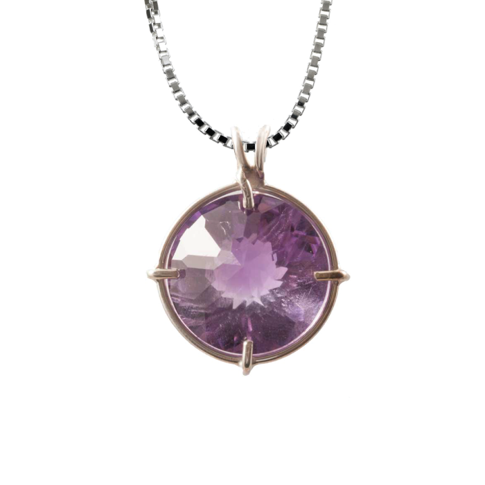 Amethyst Radiant Heart Chain Pendant, Evolution Pendants, Voltlin, Crystal and Gemstone, Beaded, Healing Bracelets, Gemstone Jewelry, Healing Crystals, What Stones Are Best, Necklace, Bead, Prayer Beads, Meditation Stones, Sacred Geometry, Handmade, Handcrafted, Spiritual Jewelry, for Enlightenment, Evolution Pendants