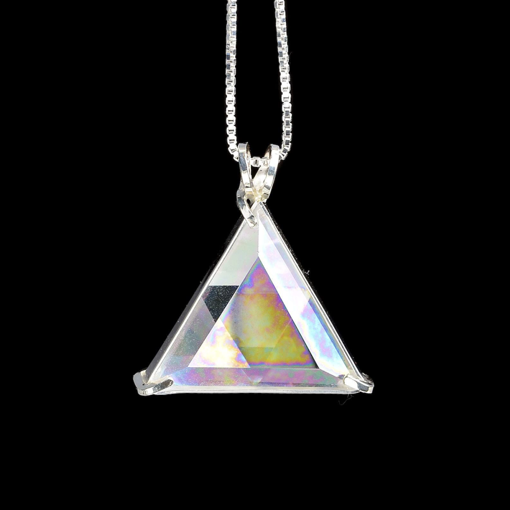 Angel Aura Quartz Star of David Chain Pendant, Evolution Pendants, Voltlin, Crystal and Gemstone, Beaded, Healing Bracelets, Gemstone Jewelry, Healing Crystals, What Stones Are Best, Necklace, Bead, Prayer Beads, Meditation Stones, Sacred Geometry, Handmade, Handcrafted, Spiritual Jewelry, for Enlightenment, Evolution Pendants