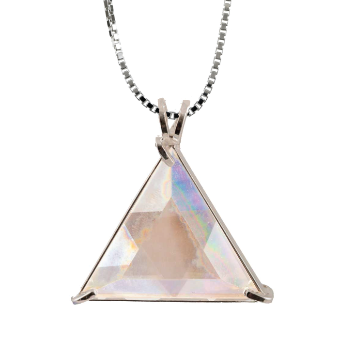 Angel Aura Quartz Star of David Chain Pendant - Voltlin