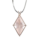 Rose Quartz Ascension Star Chain Pendant