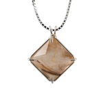 Rutilated Quartz Magician Stone Chain Pendant