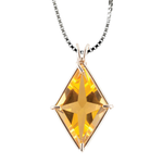 Siberian Gold Quartz Ascension Star Chain Pendant