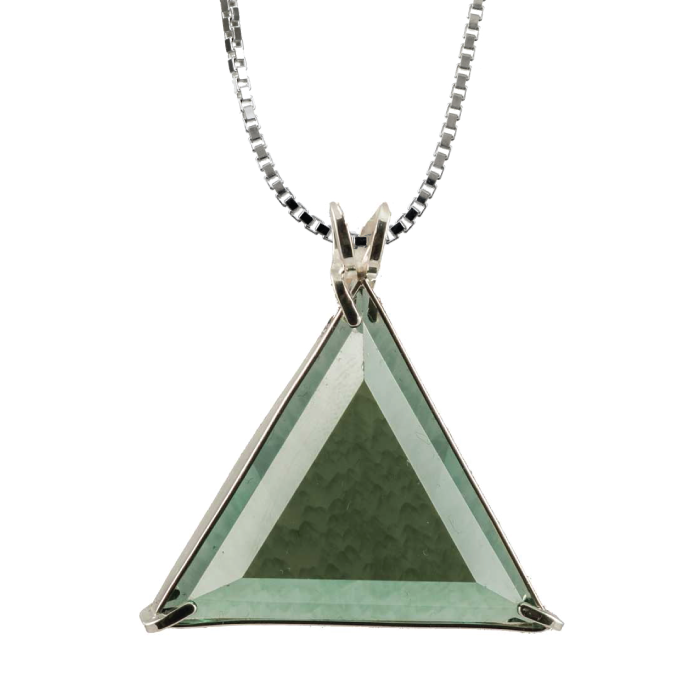 Siberian Green Quartz Star of David Chain Pendant
