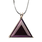 Siberian Purple Quartz Star of David Chain Pendant