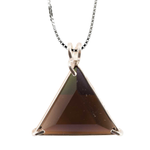 Smokey Quartz Star of David Chain Pendant