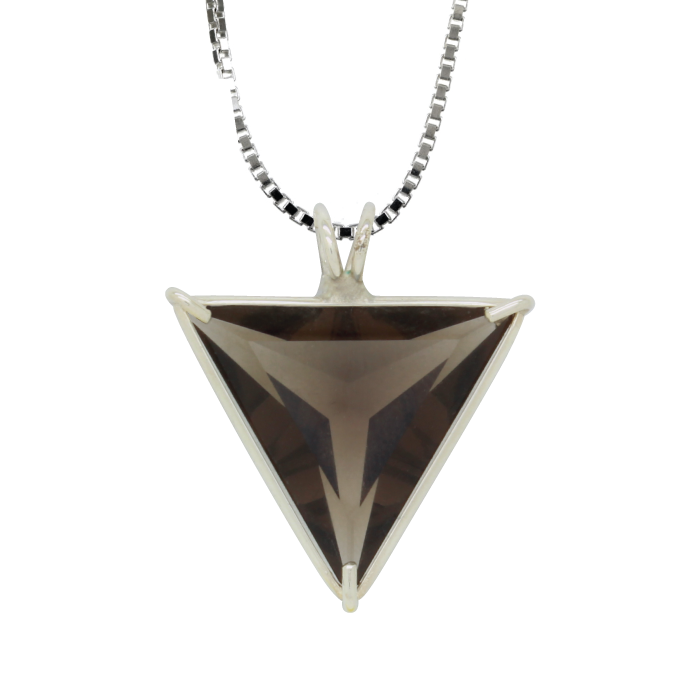 Smoky Quartz Angelic Star Chain Pendant
