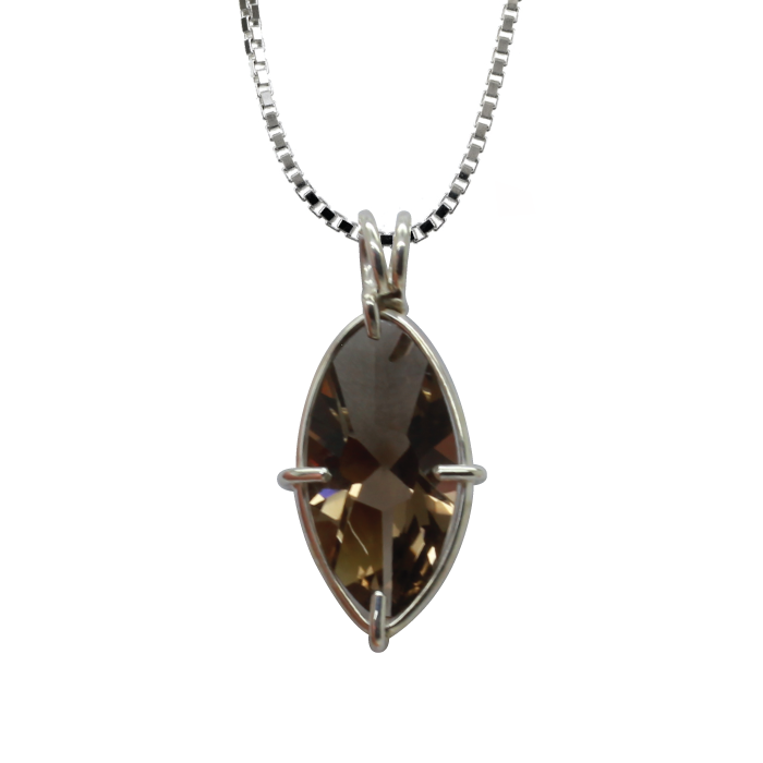 Smoky Quartz Infinite Eye Chain Pendant