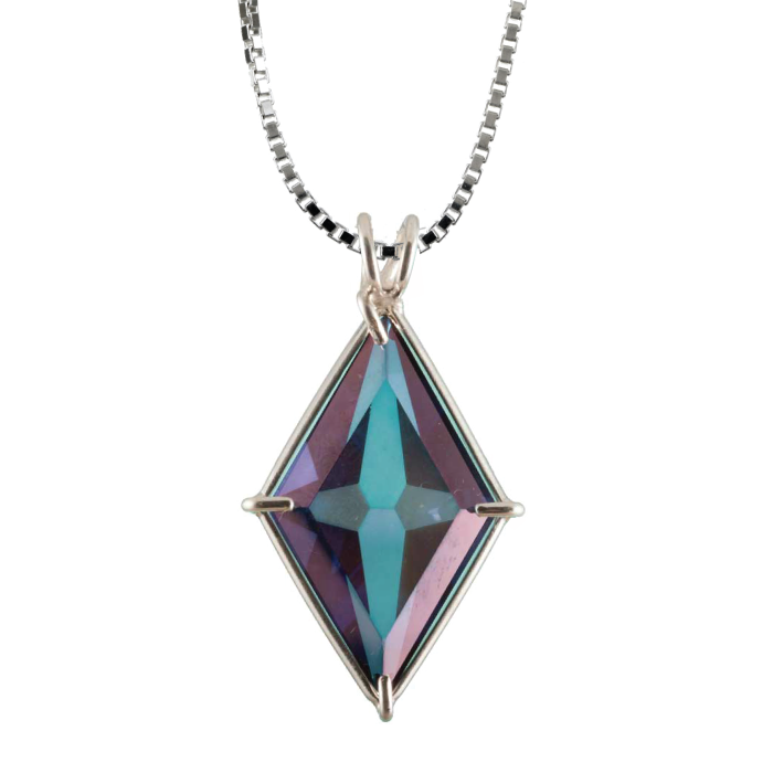 Tanzine Aura Quartz Ascension Star Chain Pendant