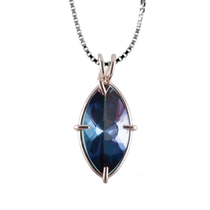 Tanzine Aura Quartz Infinite Eye Chain Pendant