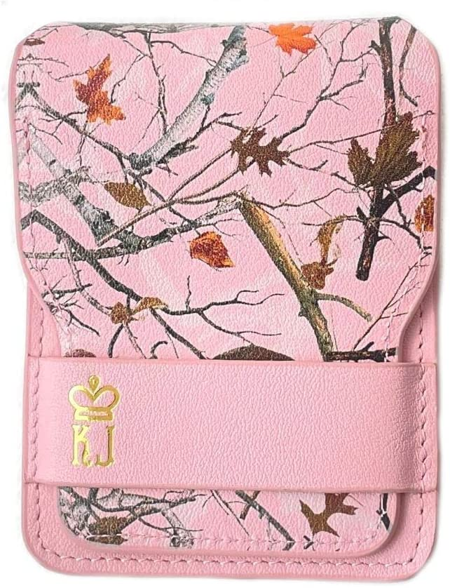 Pink Camo Wallet Leather Minimalist Wallet Unique Camouflage Design