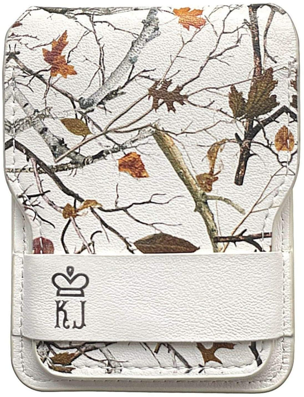 White Camo Wallet Leather Minimalist Wallet Unique Camouflage Design