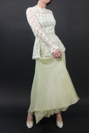 Vintage 1970 Crochet Gown | Little White Dresses | Silver Moon | 1