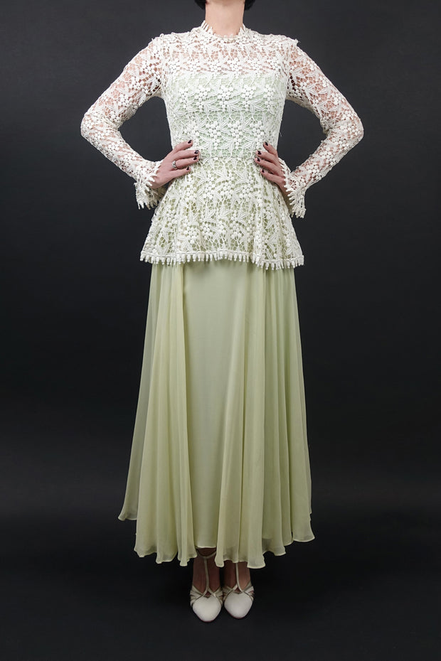 Vintage 1970 Crochet Gown | Little White Dresses | Silver Moon | 3