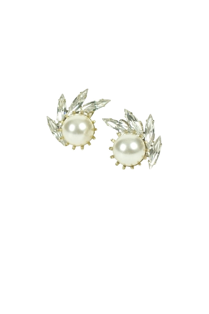Ti Adoro Crystal and Pearl Stud Earrings