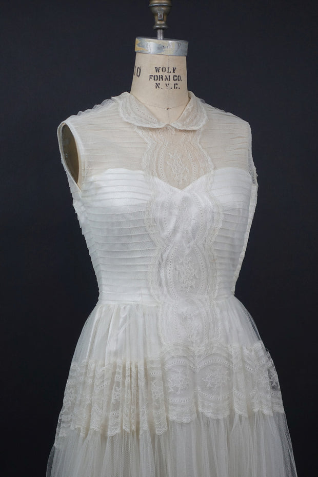 Original 1940s Tulle Wedding Gown