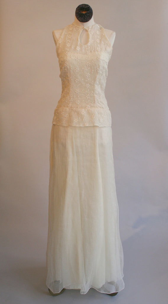 Vintage Revival Organdy Gown