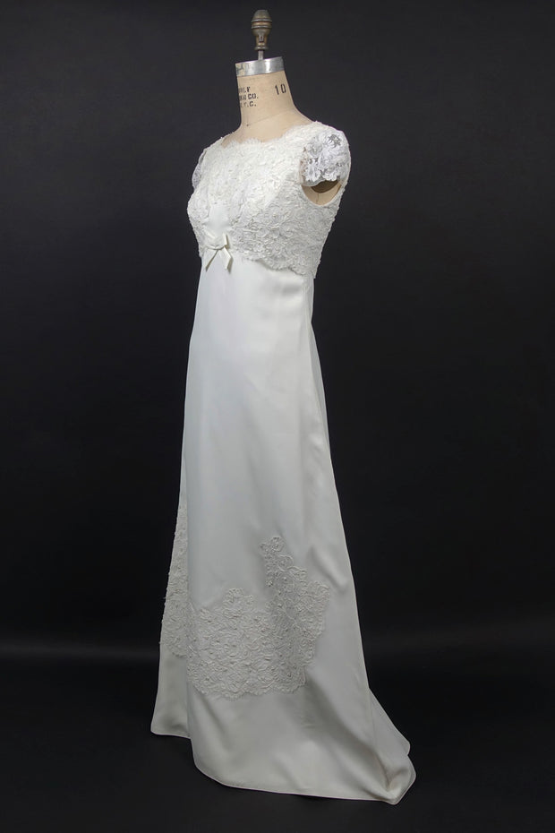 Original 1960s A-line Wedding Gown