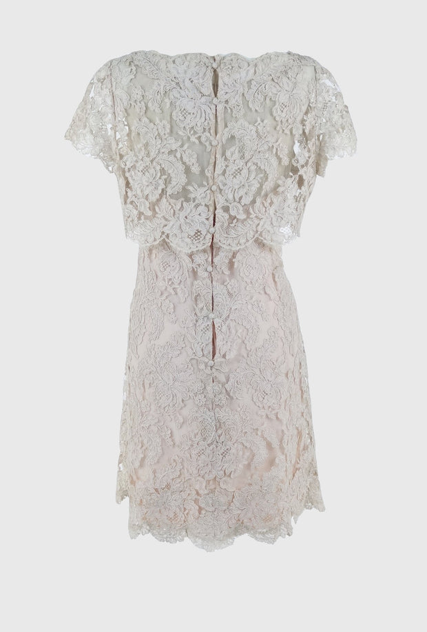Vintage 1960 Lace Mini Dress | Little White Dresses | Silver Moon | Back