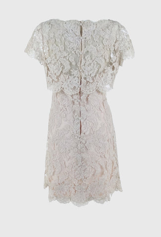 Silver Moon | Vintage 1960s Blush Lace Dress
