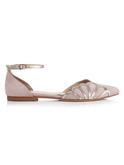 Rachel Simpson Amber Wedding Shoe | Silver Moon | Side
