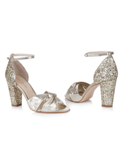 Rachel Simpson Candyfloss Gold Wedding Shoe | Silver Moon | Front
