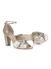 Rachel Simpson Candyfloss Gold Wedding Shoe | Silver Moon | Inside