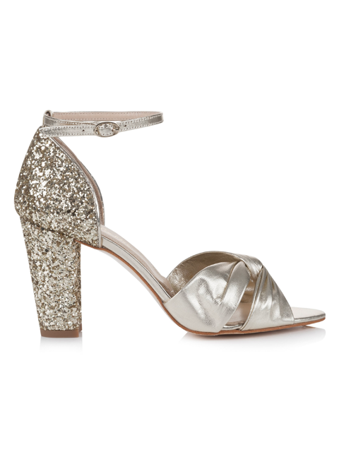 Rachel Simpson Candyfloss Gold Wedding Shoe | Silver Moon | Side
