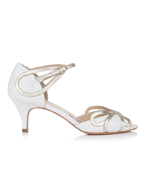 Rachel Simpson Cecelia Wedding Shoe | Silver Moon