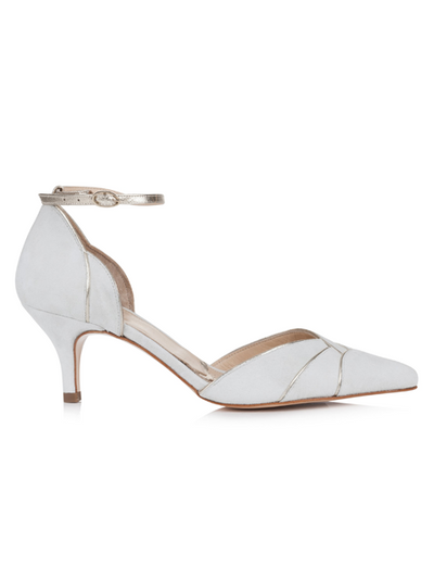 Rachel Simpson Clementine Wedding Shoe | Silver Moon | Side