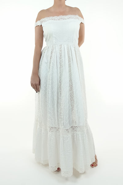 Silver Moon | Vintage Bohemian Hattie Wedding Dress