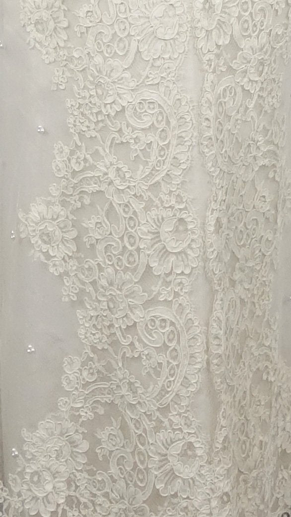 1960s Lace Empire Gown