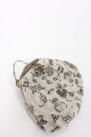 1920s Beaded Purse | Silver Moon
