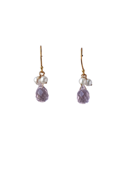 Emma Mini Drop Wedding Earring | Silver Moon