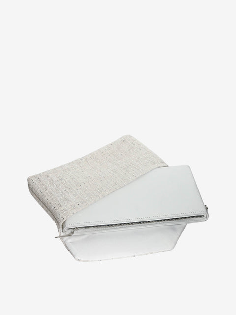 Ruth Clutch Hollywood | Light Ivory | Inner | Silver Moon