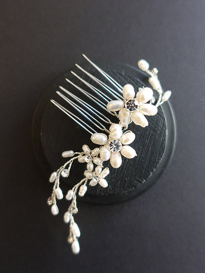 Floral Sprig Hair Comb