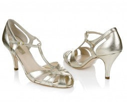 Silver Moon | Rachel Simpson Ginger Wedding Shoe