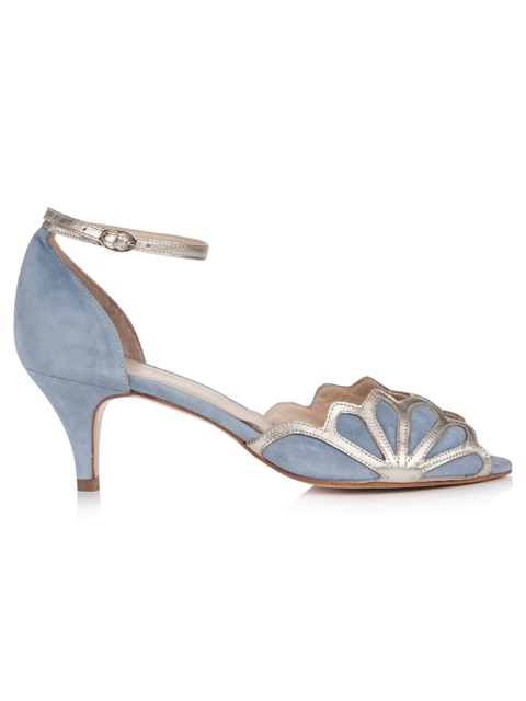 Rachel Simpson Isadora Dusky Blue | Silver Moon | Side