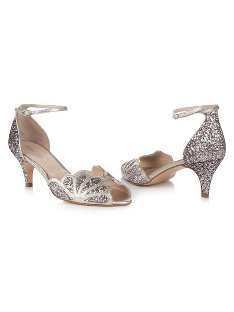 Silver Moon  | Rachel Simpson Isadora Quartz Wedding Shoe | Front