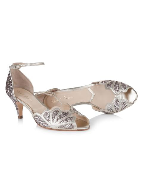 Silver Moon  | Rachel Simpson Isadora Quartz Wedding Shoe | Inside