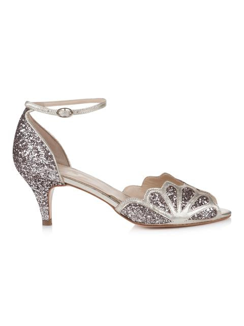 Silver Moon  | Rachel Simpson Isadora Quartz Wedding Shoe | Side