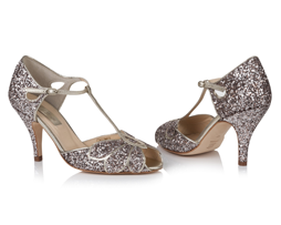 Rachel Simpson Mimosa Quartz Wedding Shoe | Silver Moon | Both
