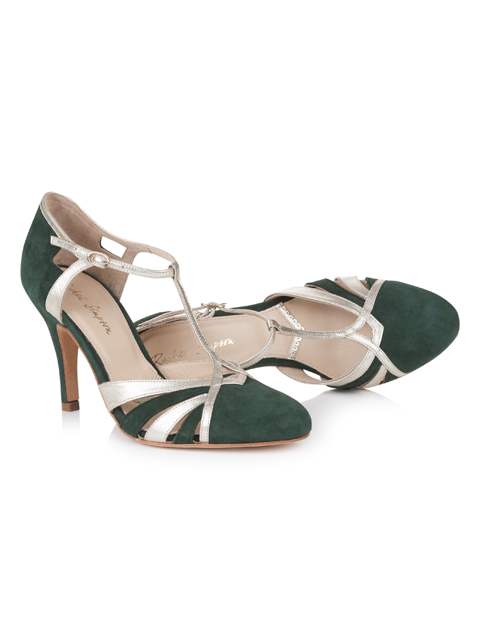 Rachel Simpson Paloma | Silver Moon | Forest Green | Inside