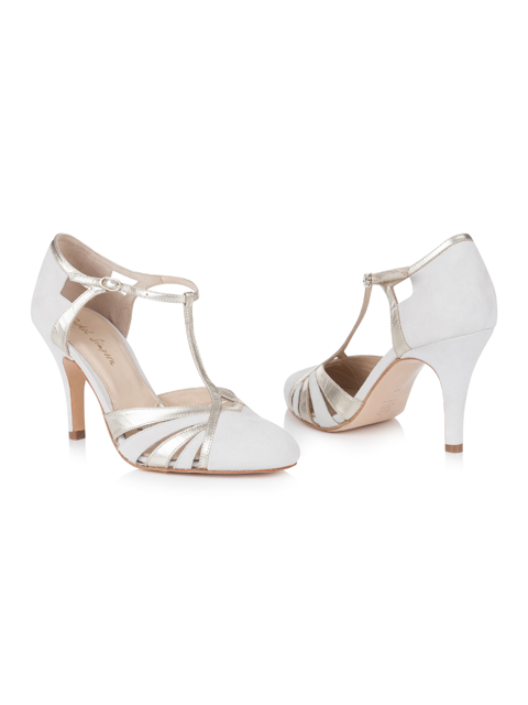 Silver Moon | Rachel Simpson Paloma Ivory Wedding Shoe | Front