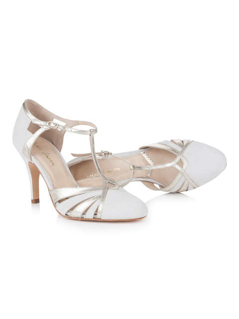 Silver Moon | Rachel Simpson Paloma Ivory Wedding Shoe | Inside