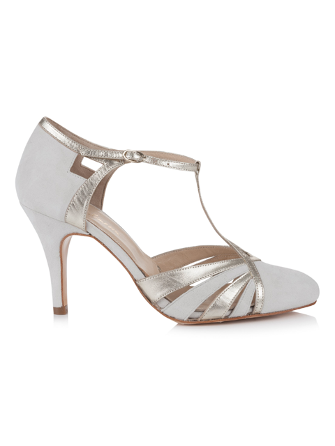 Silver Moon | Rachel Simpson Paloma Ivory Wedding Shoe | Side