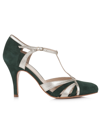 Rachel Simpson Paloma | Silver Moon | Forest Green | Side